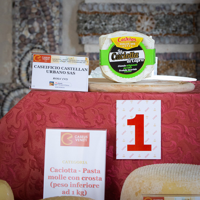 Caciotta di Capra Caseificio Castellan Urbano vincitrice Primo Premio Casues Veneti 2020